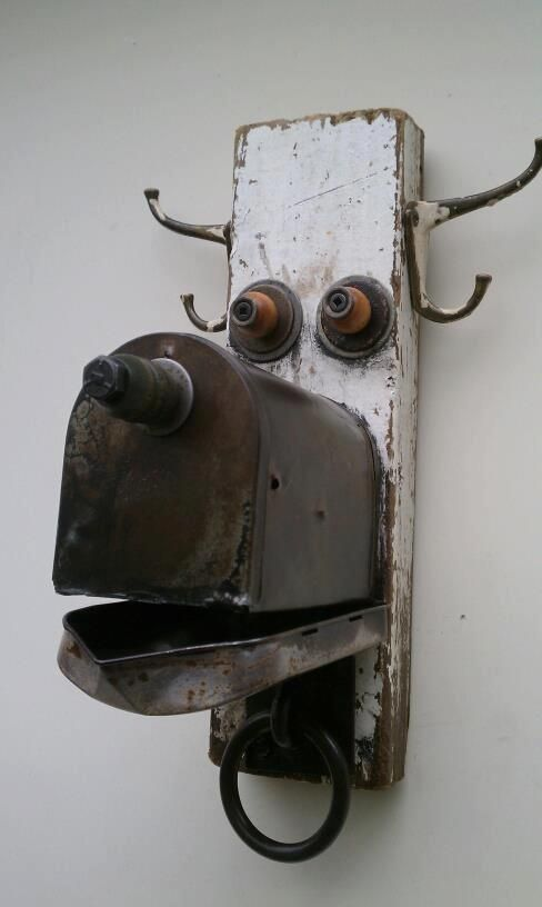 Funny character made with metal objects -  by Thomas Shelton