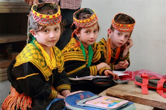 Pupils at a Kalash primary school learn that difference is not always tolerated