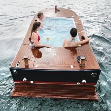 Un jacuzzi-barco!? jajaja Me encanta!