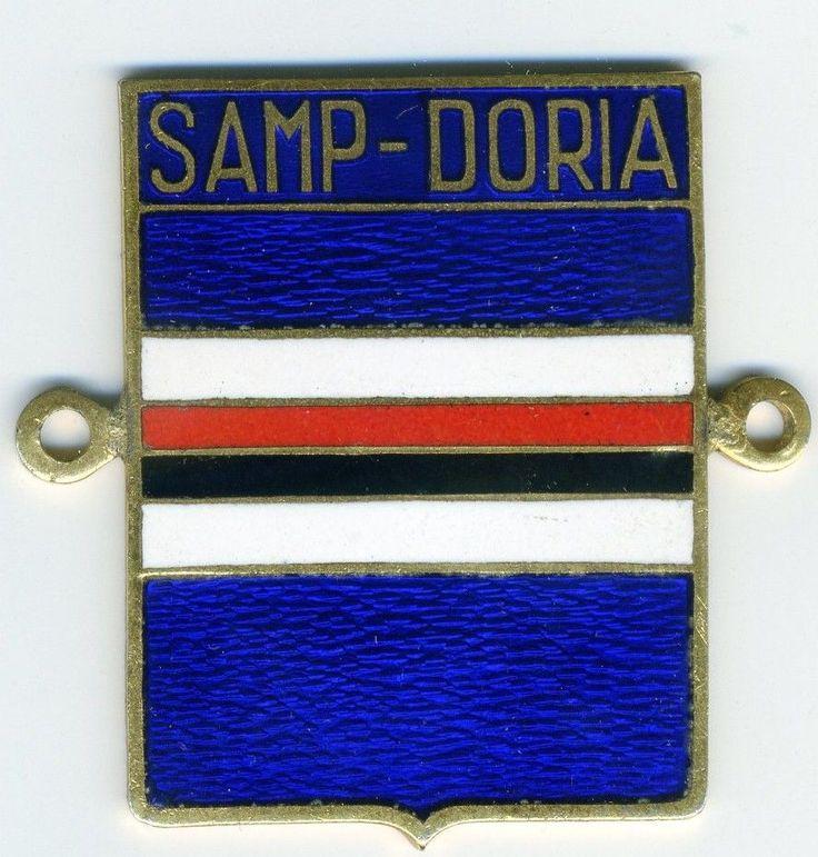 SAMPDORIA 1946 DISTINTIVO PLACCA SMALTI. UNIONE CALCIO SAMPDORIA