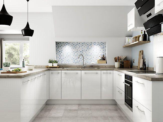 Glencoe White Wickes Co Uk Contemporary Kitchen Wickes Kitchens Kitchen Fittings