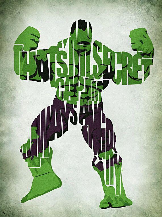 Hulk - The Avengers   #typography #hulk #design