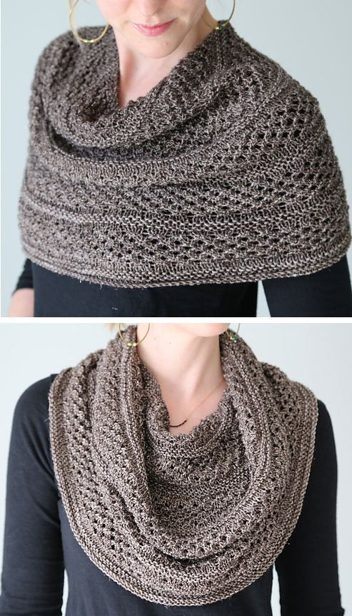 Knitting Pattern for Starshower Cowl - This wrap can be worn as cowl, shoulder cozy, or shawl. Knit in star stitch that showcases variegated sock yarn. Designed by Hilary Smith Callis