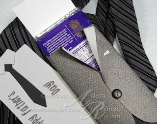 Verpakking cadeaubon voor mannen, vaders, opa's etc.  Creations by AR: Sweet Jacket - Tutorial