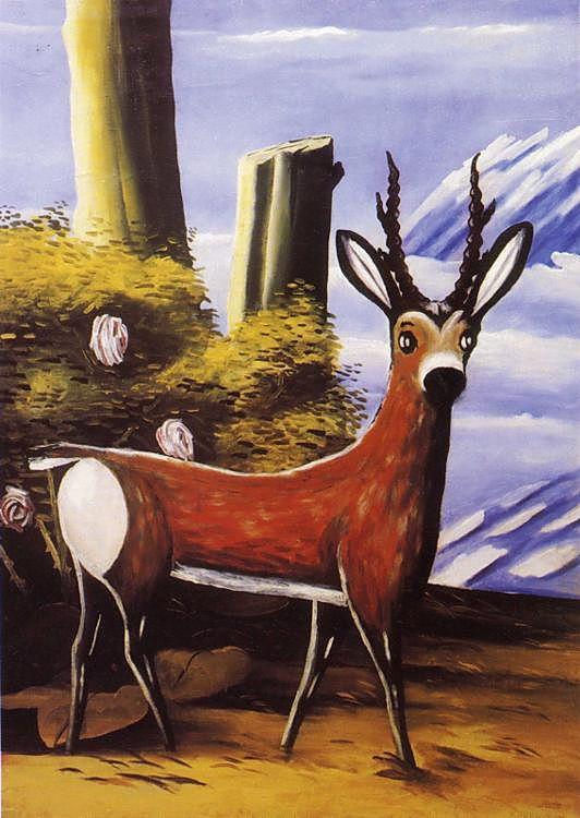 Deer - Niko Pirosmani - WikiPaintings.org