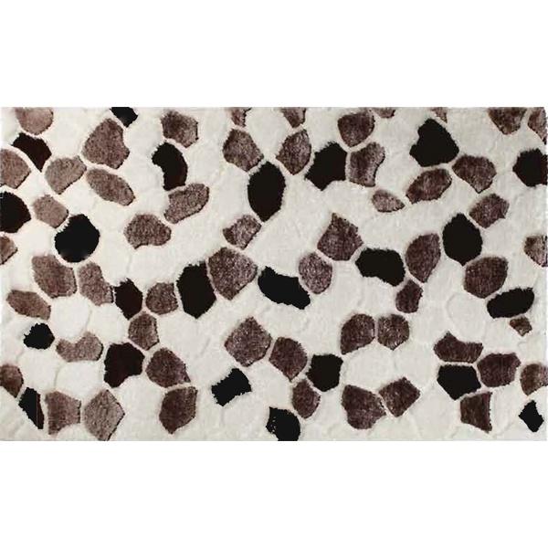 ALFOMBRA OXFORD BEIG  Alfombras de salón Oxford Beig creadas por la empresa Udelco. Esta alfombra de salón tiene un diseño tejido simulando un mosaico de piedras color blanco natural, visón y marrón oscuro. La alfombra de salón tiene un acabado con relieve.