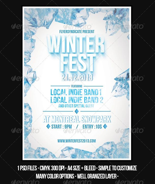 62 best Flyer Item images on Pinterest Flyer template, Minimal - winter flyer template