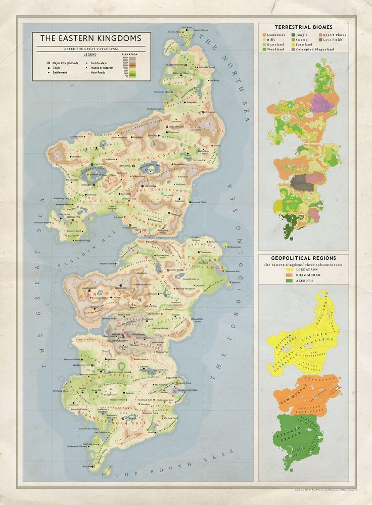 TheEasternKingdoms GeographicalMapbyKuusinendeviantart 63 best Maps images on Pinterest