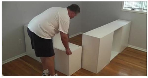 This Dad Moves A Bunch Of IKEA Cabinets To The Bedroom To Create This Masterpiece