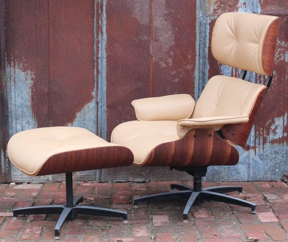 Vintage Eames Style Lounge Chair U0026 Ottoman By Selig 50u0027s 60u0027s Walnut Retro  Atomic Mid Century
