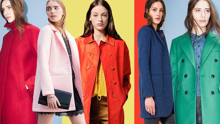 Eye-catching style  Een 'statement coat' geeft pit aan je look. Nieuw is de belijning met ronde schouders; de 'o-shaped' jacket of ga je juist voor een strakke aangesloten fit? Kies in ieder geval voor kleur en ga het najaar tegemoet in zacht pastel, passioneel rood of een knalgroene jas!