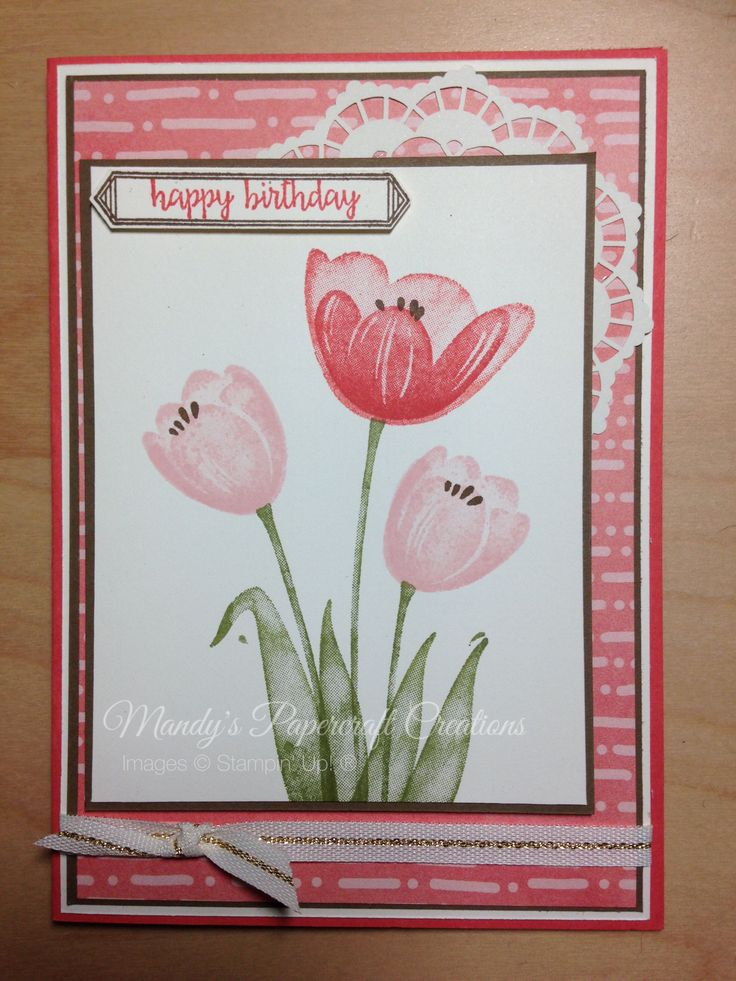 Tranquil Tulips card, Stampin' Up!® Mandy's Papercraft Creations