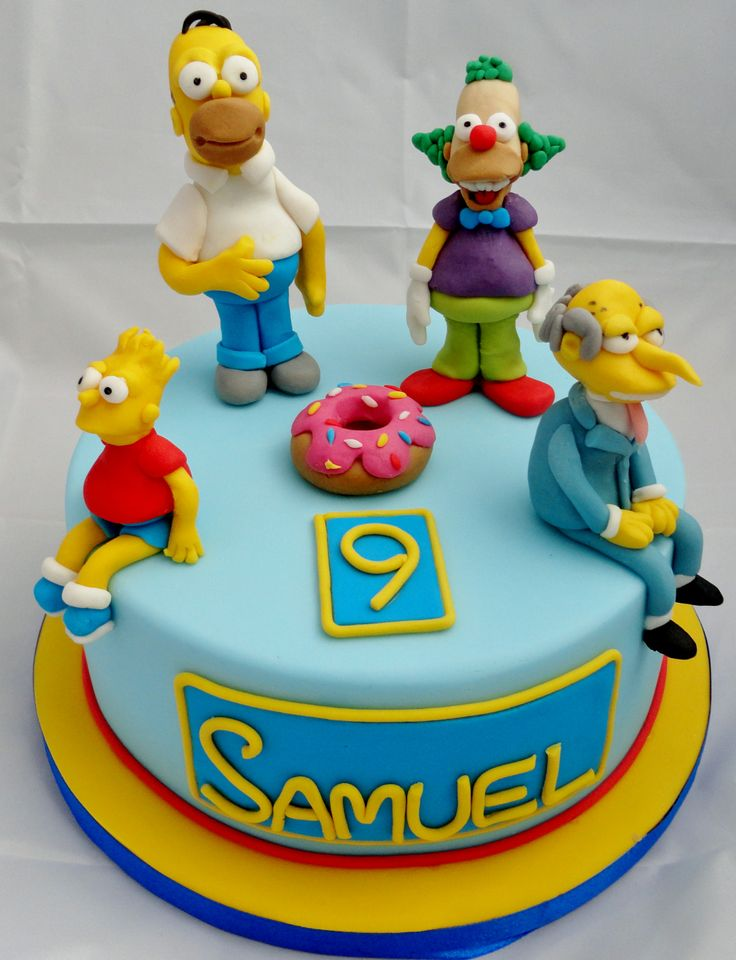 simpsons birthday cake