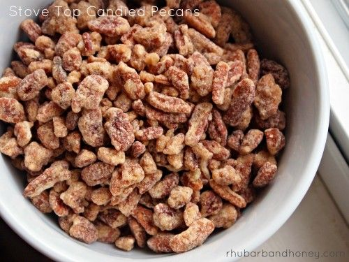 Stove Top Candied Pecans @Kimberly Henricks-Friedhoff