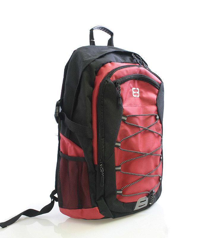 #enrico #benetti Červený odlehčený batoh s polstrovanou kapsou na notebook nebo tablet s max. rozměry 24 x 38 cm. Batoh má vyztužená a odvětrávaná záda, nastavitelné polstrované popruhy, několik kapes a postranní síťky na láhve s pitím. Dopřejte si kvalitní a pohodlný batoh pro vaše tůry.