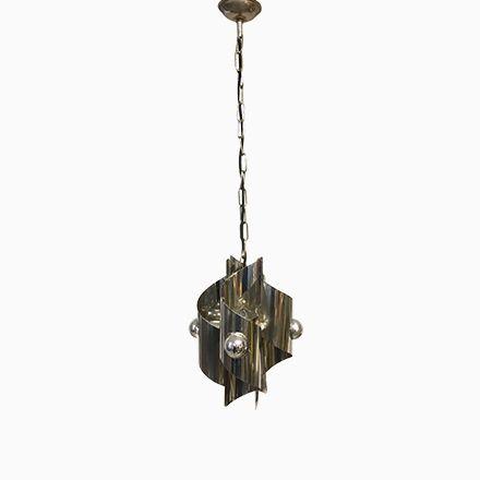 Italienische Spiral Hängelampe, 1970er Jetzt bestellen unter: https://moebel.ladendirekt.de/lampen/deckenleuchten/deckenlampen/?uid=d6fcde20-0912-58d0-ba30-3f46ea1fe390&utm_source=pinterest&utm_medium=pin&utm_campaign=boards #deckenleuchten #lampen #deckenlampen