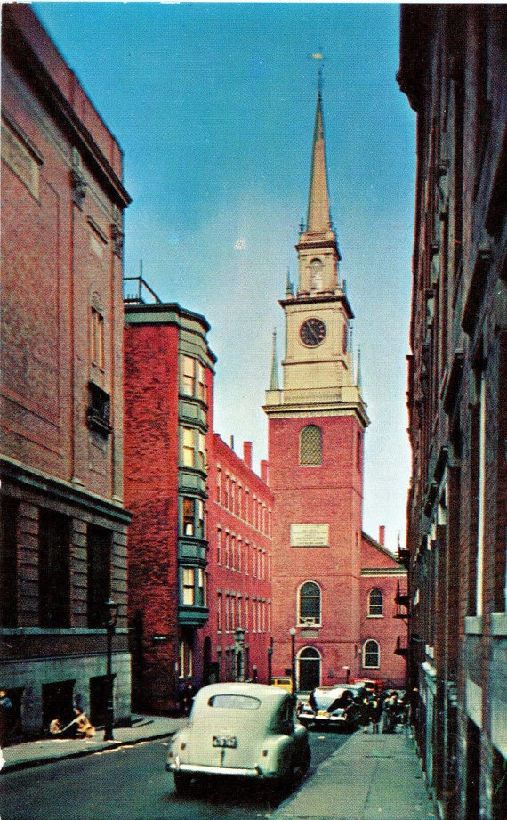 Historic Old North Church Boston Massachusetts 1959
