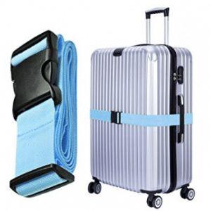 Hibate Adjustable Travel Luggage Straps Suitcase Strap Belts