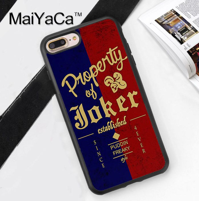 Property Of Joker Soft Rubber Mobile Phone Cases OEM For iPhone 6 6S Plus 7 7 Plus 5 5S 5C SE 4 4S Cover