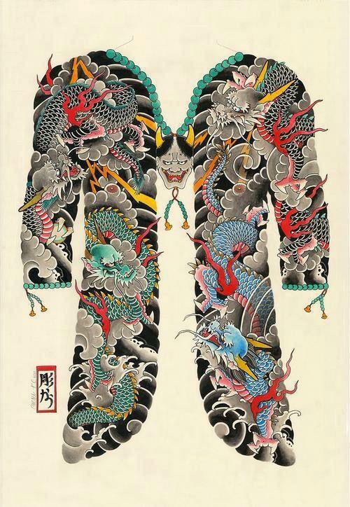 25 b sta id erna om yakuza tattoo p pinterest. Black Bedroom Furniture Sets. Home Design Ideas