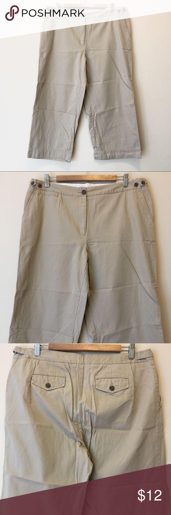 Lands' End Khaki Capris Khaki Capri pants by Lands' End. Size 16.  Excellent condition! Lands' End Pants Capris