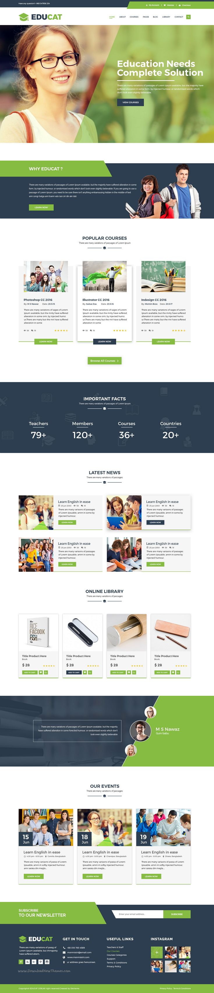 Educat is wonderful premium #PSD template for #education website. #edutech…