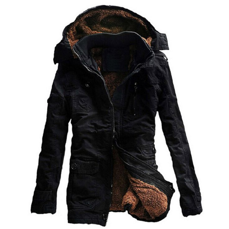 Men's Winter Warm Thick Casual Hooded Cotton Coat M-5XL 4 Colors