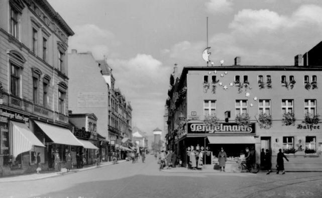 Küstrin an der Oder-Die Zorndorferstrasse 30er Jahre