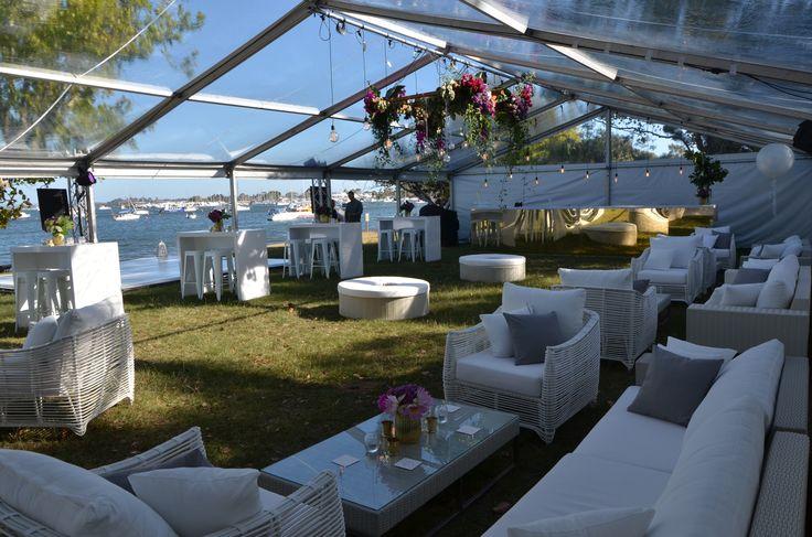 Matilda Bay wedding by OMG Events.  Modern wedding. Marquee wedding. Perth wedding.