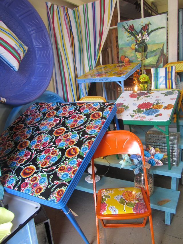 Fun Way To Refresh Vintage Card Tables And Chairs!