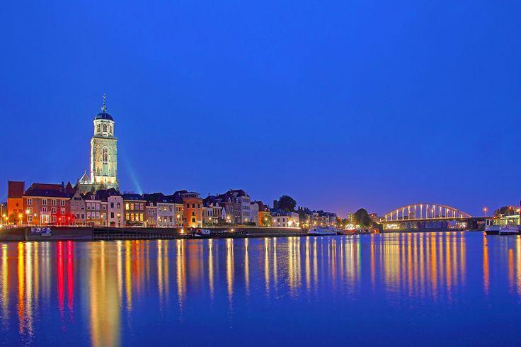 hdr blue hour skyline deventer by Martijn Eilander