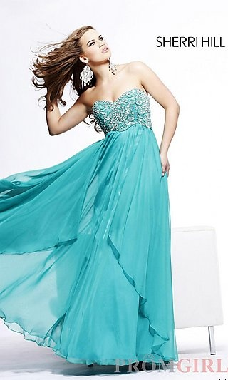 Sherri Hill Strapless Evening Gown 3802  at PromGirl.com http://www.promgirl.com/shop/dresses/viewitem-PD678519
