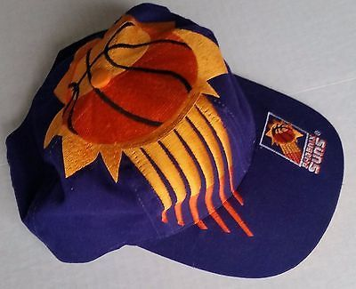 Phoenix Suns Vintage Snapback The Game Big Logo Hat NBA Cap Rare Starter Logo7