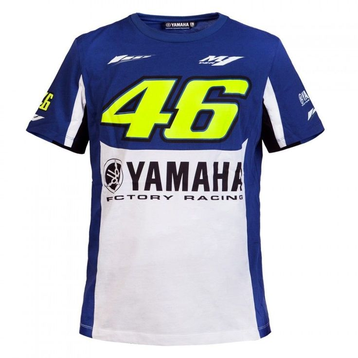 Envío gratis 2016 camiseta de valentino rossi vr46 m1 para yamaha factory racing royal blu moto gp camiseta camiseta