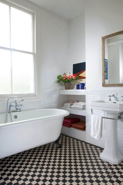 20 best images about checkerboard floors on pinterest for Great bathroom designs