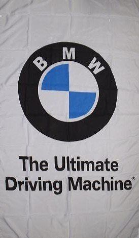 NEOPlex 3' x 5' BMW White Ultimate Driving Machine Automotive Logo Flag by NEOPlex. $18.75. This 3 x 5 foot automotive logo advertising flag is made from super polyester that is durable, yet lightweight enough to fly in even the lightest breeze. It has 2 brass grommets firmly attached to heavy canvas on the inner fly side. Bright, vivid colors and colorfast to reduce fading. Many titles to choose from.. Save 62% Off!