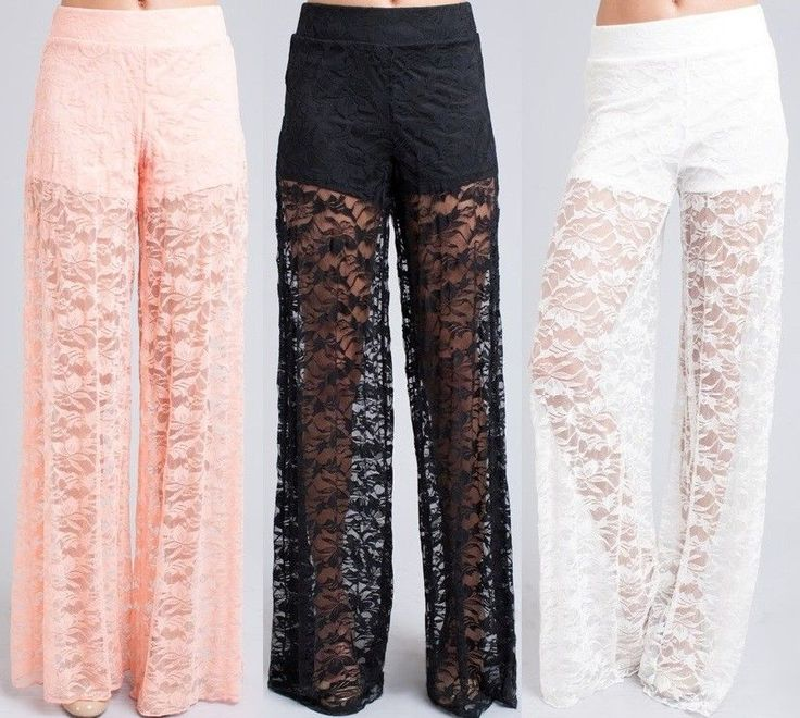 Wide Leg Lace Pants