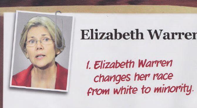 elizabeth warren + native american | Elizabeth Warren – Native American Scandal mailer