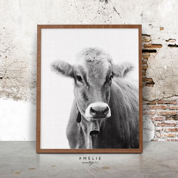 Cow Print Farmhouse Decor Country Cottage Wall by AMELIEVintageCo