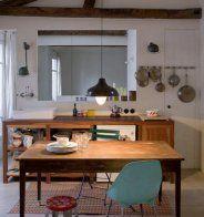 Une cuisine vintage esprit brocante - Marie Claire Maison
