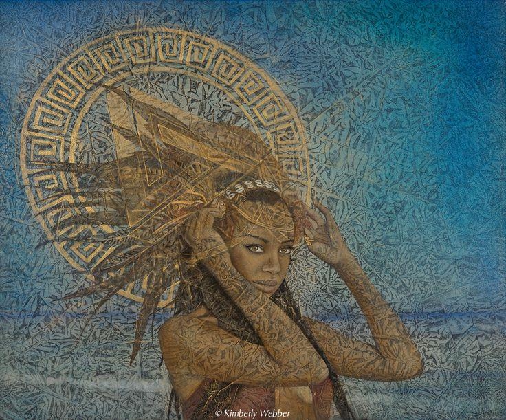 Mera | 30″ x 36″ earth pigments, oil on panel