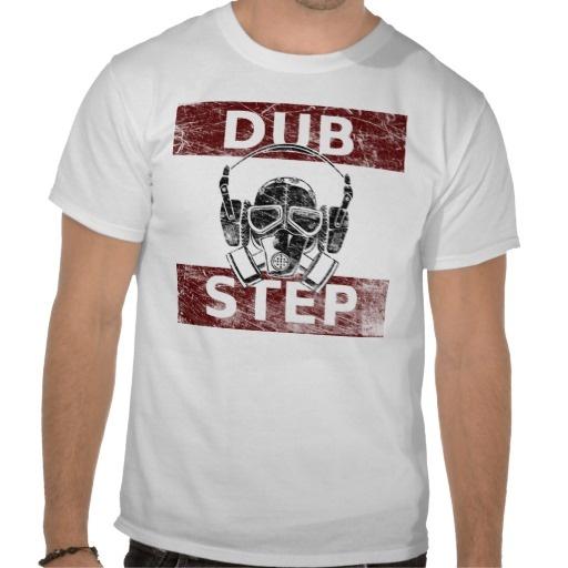 Dubstep gas mask  headphones t-shirt