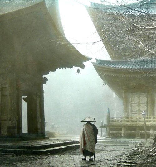 wandering monk / okinawa sobaPhotos, Temples, Ears Mornings, 19Th Century, Places, Mount Hiei, Okinawa Soba, Photography, Kyoto Japan