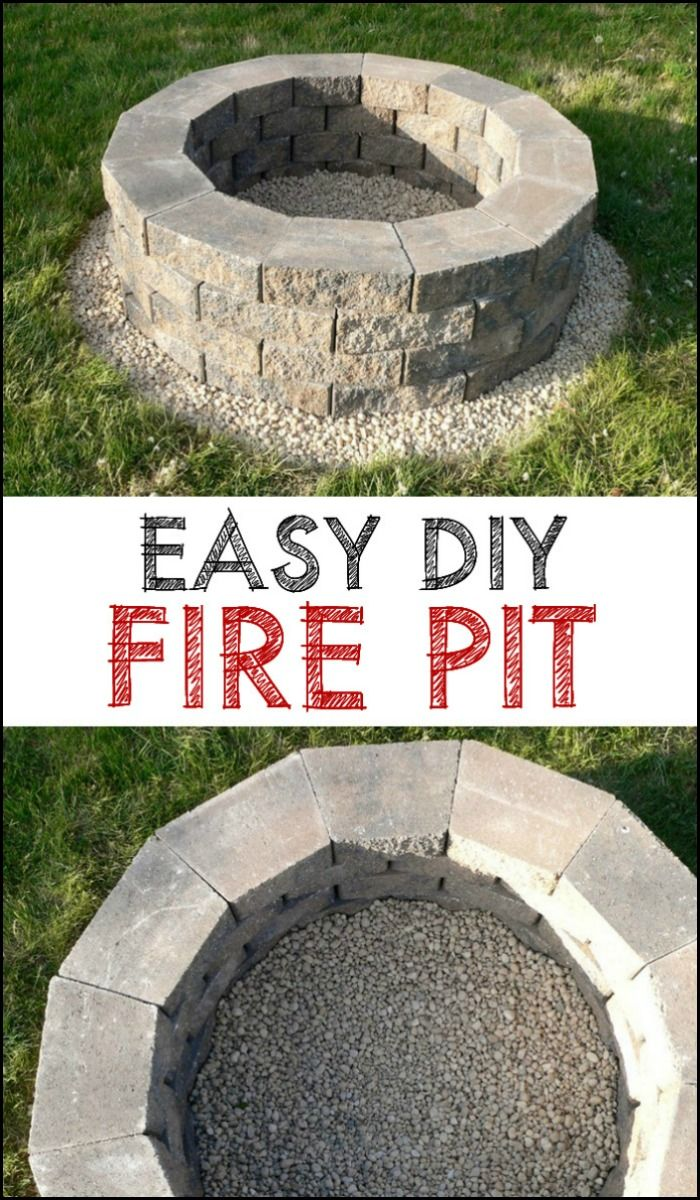Fire pit how to diy fire pit easy and backyard for Fire pit easy