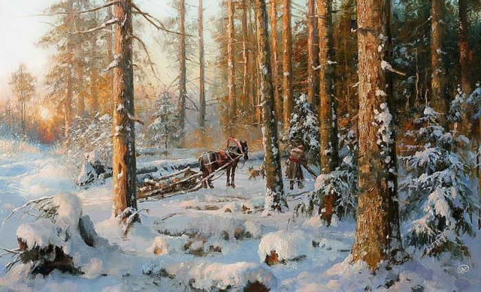 зимние пейзажи Владимира Жданова – 24