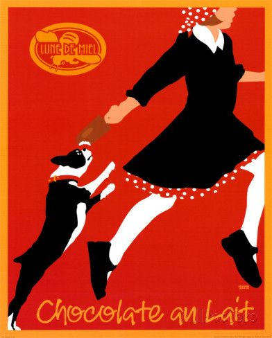 Chocolate au Lait Poster par Johanna Kriesel sur AllPosters.fr