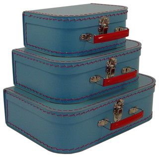 Cargo Traveler Mini Suitcases, Set of 3 - contemporary - accessories and decor - by Resource International Inc.