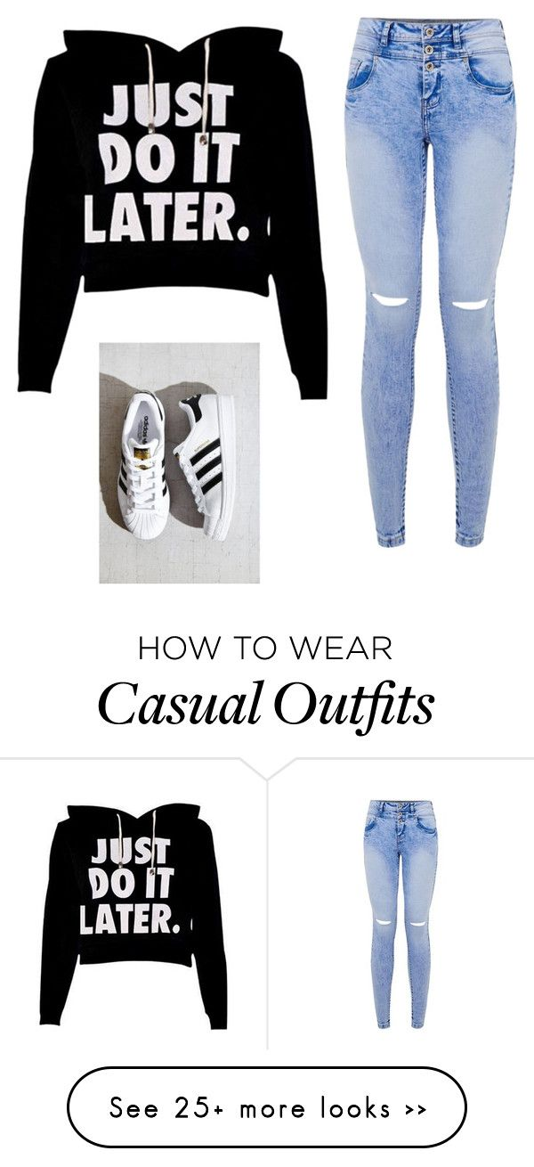 """Casual/Lazy"" by lalinn on Polyvore featuring adidas"