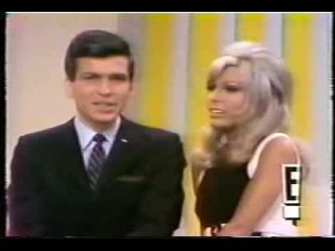 """Nancy Sinatra gets a #1 hit in 1967, """"Something Stupid"""", a duet with daddy Frank, but she is singing with her brother Frank Jr."""