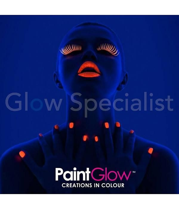 Neon nagellak, reageert op UV-licht. Paintglow UV nagellak